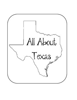 Texas State Lapbook. Interactive Notebook. US History and Geography