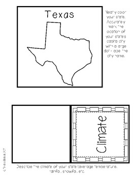 Texas State Research Lapbook Interactive Project