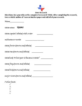 Texas State Research Project