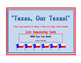 """Texas State Song (""""Texas, Our Texas!"""") Lyric Sequencing Cards"""