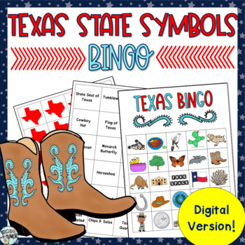 Texas State Symbol DIGITAL BINGO GAME