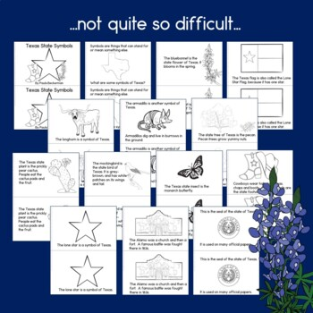 Texas State Symbols: 3 Differentiated Guided Reading Books