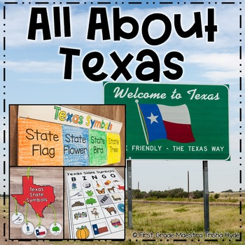 image about 30.07 Sign Printable named Texas Symbols Bingo Worksheets Training Products TpT