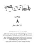 Texas State Symbols Activity