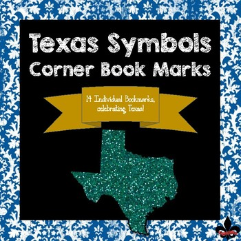 Texas State Symbols Corner Book Marks
