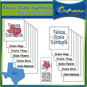 Texas State Symbols Interactive Foldable Booklets