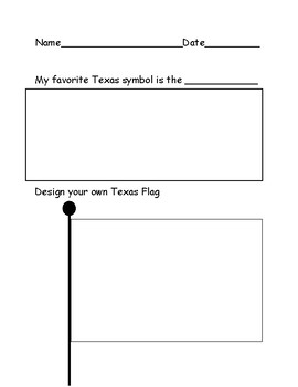 Texas State Symbols and Texas Flag