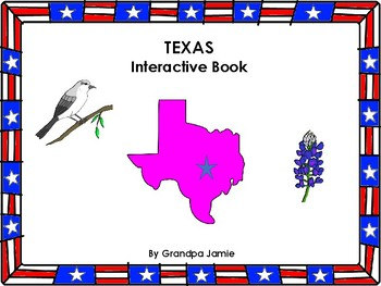 Texas State interactive book grades pre-k - second: autism, social studies