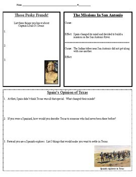 Texas Studies Weekly Newspaper #12 Worksheet