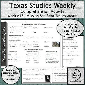 Texas Studies Weekly Newspaper #13