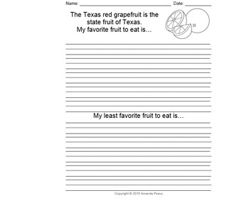 Texas Symbol Writing Prompts