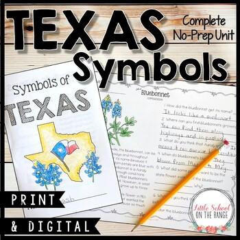 Texas Symbols Unit - No Prep