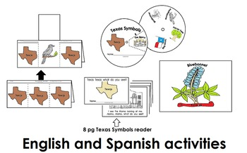 Texas Symbols Activities Pack (45pgs) Eng. & Spanish Cscope common core