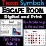 Texas Symbols Activity: Escape Room Social Studies