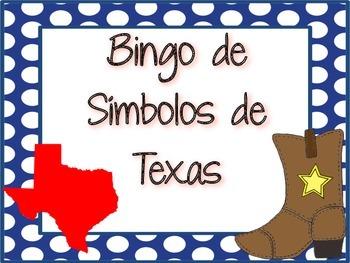 Texas Symbols Bingo (SPANISH)