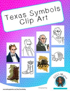Texas -Symbols Clip Art-