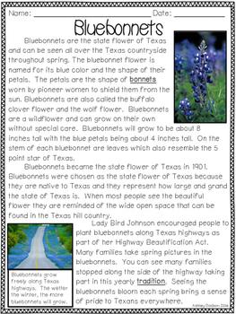 Texas Symbols Close Reading Passages