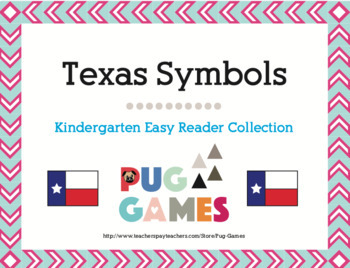 Texas Symbols Collection: Four Kindergarten Easy Reader Books
