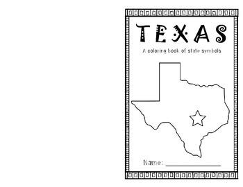 Texas Symbols Coloring Book