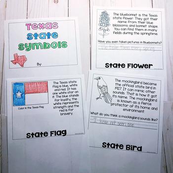 Texas Symbols Flip Book