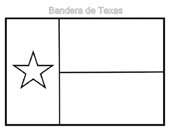 Texas Symbols Foldable and Writing Activity-Spanish