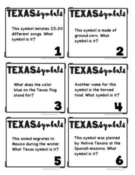Texas Symbols Game - Black and White