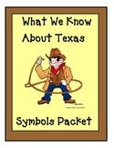 Texas Symbols Packet for  kindergarten and 1st grade Social Studies