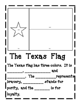 Texas Symbols Packet for  kindergarten and 1st grade Social Studies