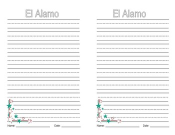 Texas Symbols Project and Writing Activity-Spanish