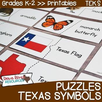 Texas Symbols Puzzles Matching Puzzles For Texas Patriotic