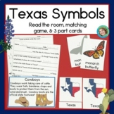 Texas Symbols Read and Write the Room, Matching Games, and