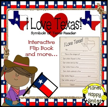 Texas Symbols Reader ~ I Love Texas! Interactive Flip Book and More