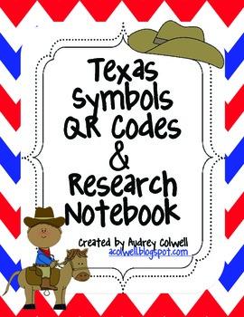 Texas Symbols Research QR Codes & Notebook
