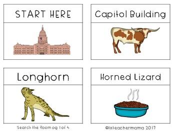 Texas Symbols Search the Room