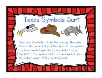 Texas Symbols: Sort