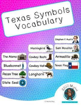 Texas - Symbols Vocabulary