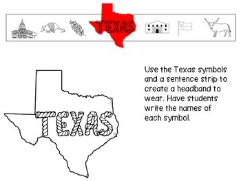 Texas Symbols Vocabulary and Craft (SPANISH)