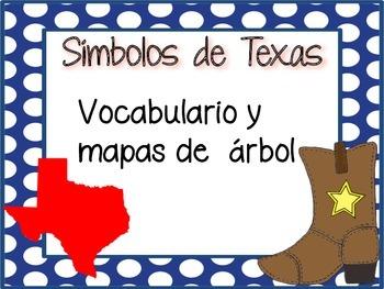 Texas Symbols Vocabulary and Tree Maps (SPANISH)