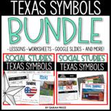 Texas Symbols Worksheets and Digital Activities Bundle