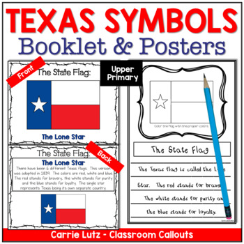 Texas Symbols and Other Information ~ Mini Booklet and Inf