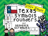 Texas State Symbols and Sentence Scramble (Plus Austin and