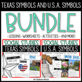 Texas Symbols and United States Symbols Worksheets and Act