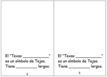 Texas Symbols interactive mini-book bilingual spanish and english