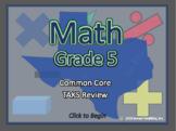 BOGO Texas TEKS - 5th Grade Common Core Math Review Progra