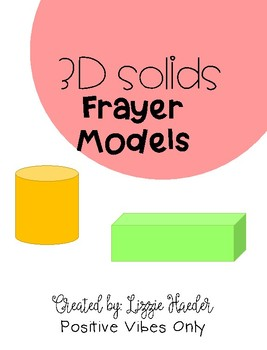 3d Solids Frayer Model: Texas TEKS