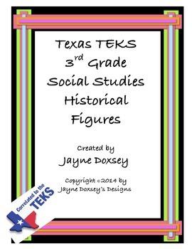 Texas TEKS 3rd Grade Historical Figures