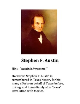 Texas TEKS 4th Grade Historical Figures