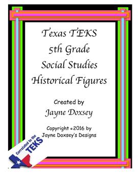 Texas TEKS 5th Grade Historical Figures