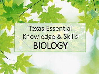 Texas TEKS Biology Posters Maple Leaves
