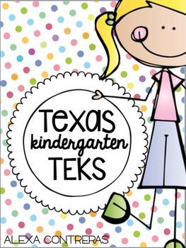 Texas TEKS I Can Mini Posters {Kindergarten}
